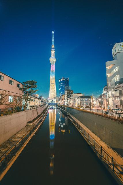 La tour Skytree à Tokyo
